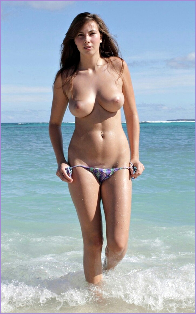 Anal beach boob woman got all horny